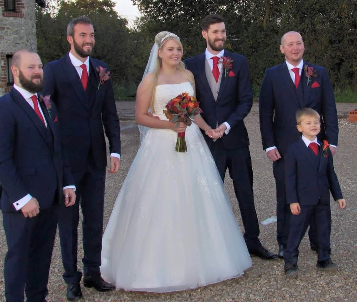 Mr & Mrs Middleditch from our Billericay store. the groomsmen wore ...