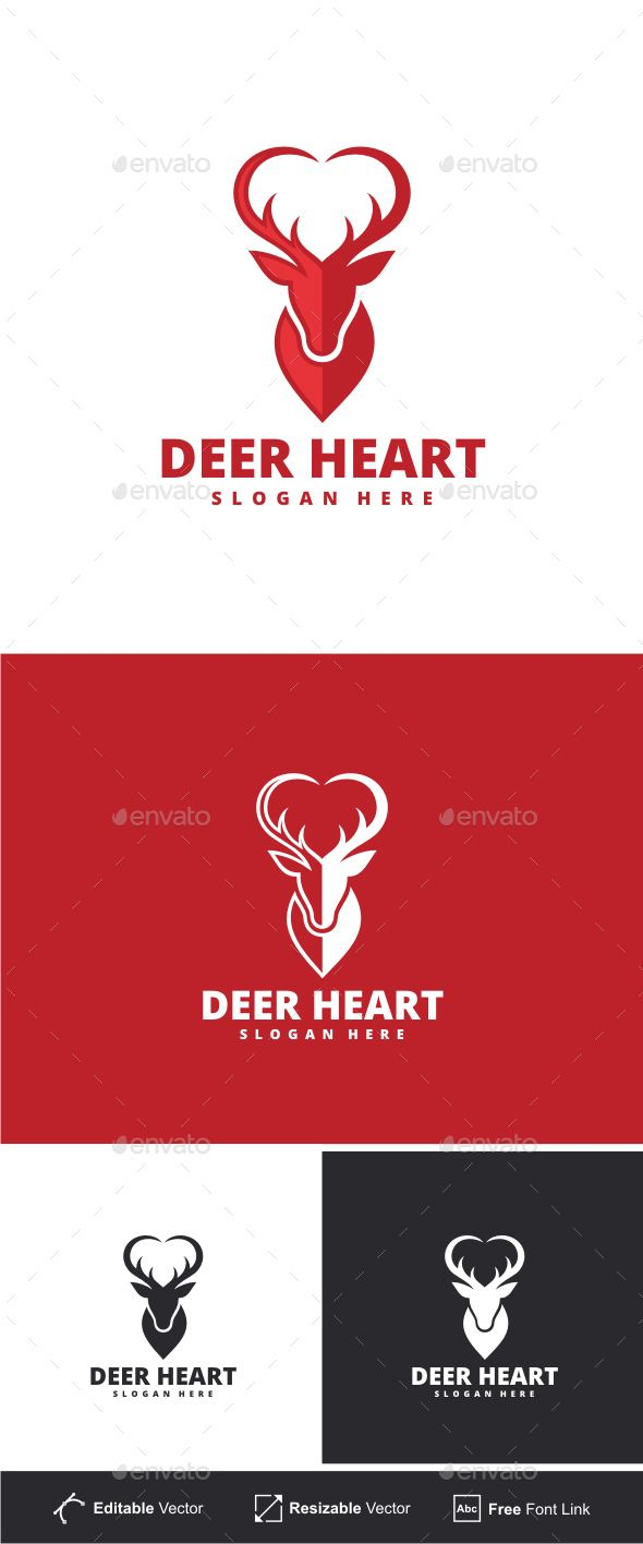Deer Heart Logo | Pinterest