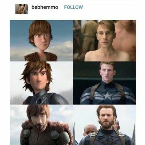 Hiccup and Steve Rogers comparison (With images) | Marvel ...
