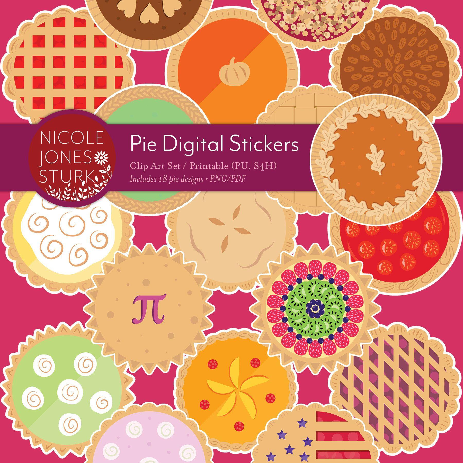 Pie Digital Stickers / clip art / digital scrapbook ...