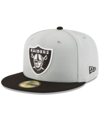 best service d22e4 321b8 New Era Oakland Raiders Team Basic 59FIFTY Fitted Cap - Gray 7 1 4