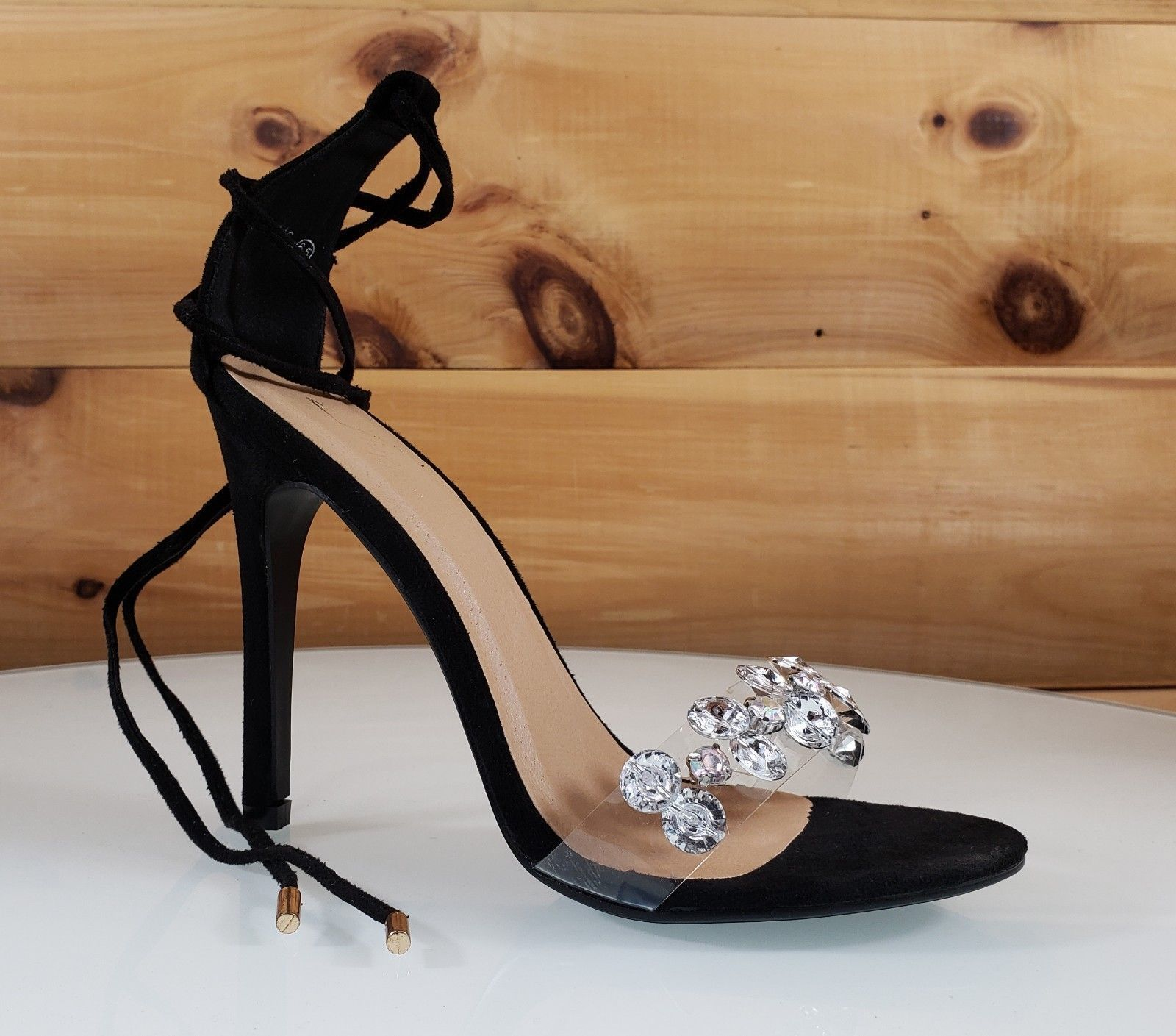 7de6725187bf Top Show Black Tie Up Crystal Toe Strap 4