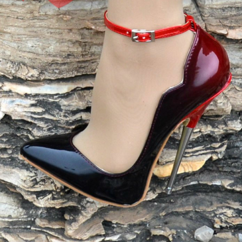 Women Pointed Toe Pumps High Heels Stiletto Ankle Boots Ladies Nightclub Shoes