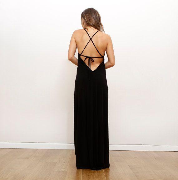 943fec395cda8 Black Bridesmaid Dress Prom Dress Maxi Party Dress by ByGalit ...