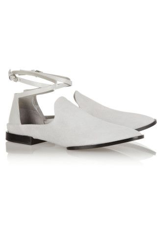 7ad985cfded Alexander Wang Astrid suede loafers – 50% at THE OUTNET.COM ...
