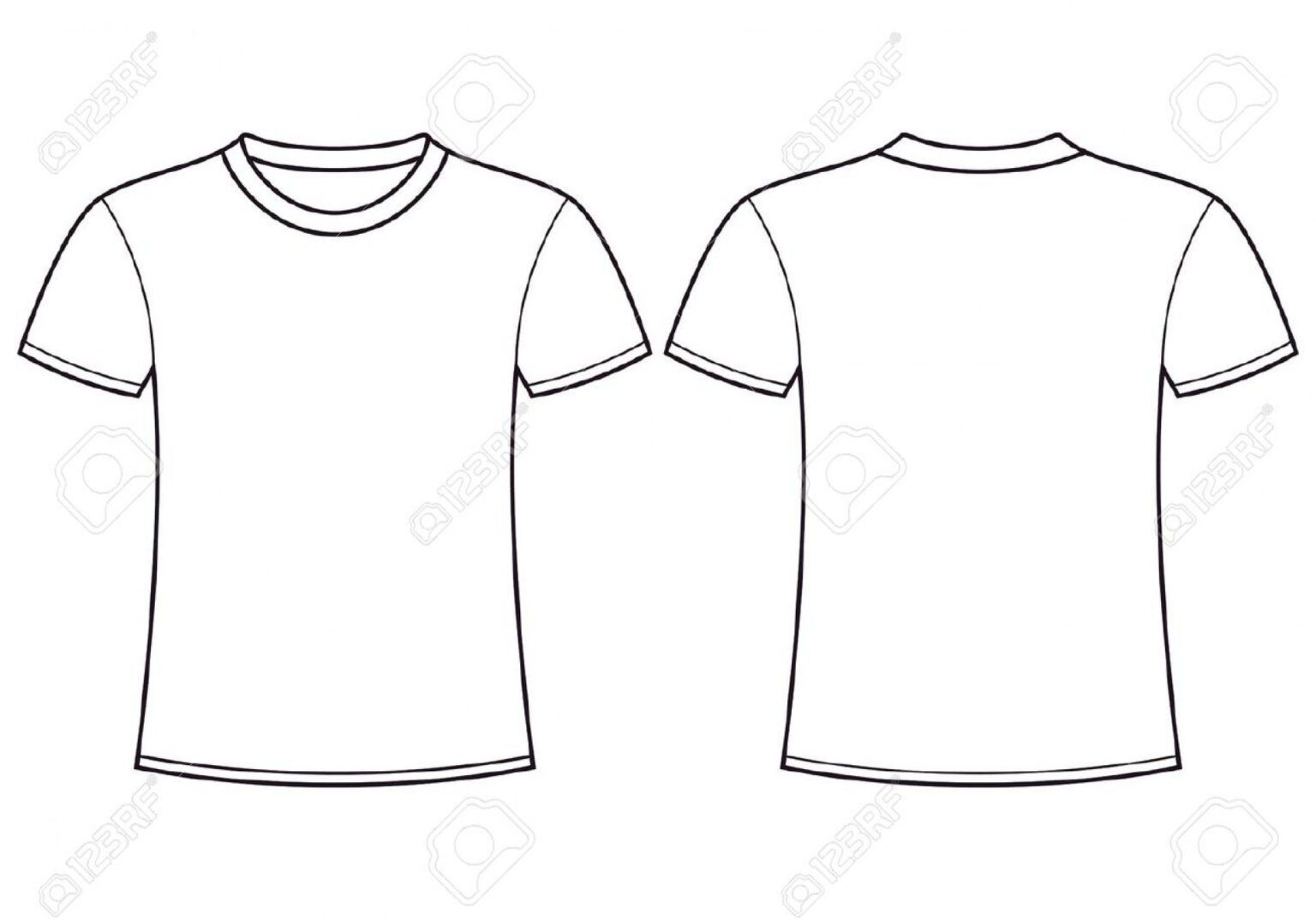 Download 006 Blank Tee Shirt Template T Shirts Vector Beautiful Ideas Within Printable Blank Tshirt Template Shirt Template T Shirt Design Template Blank T Shirts