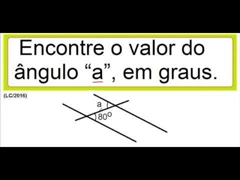 Curso Matemática Ângulos correspondentes  retas paralelas concorrentes t...