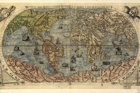 16 Jahrhundert Antike Weltkarte Fotodruck Von Library Of