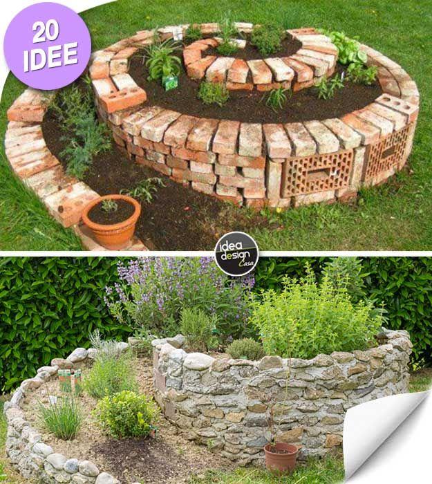 Realizzare un aiuola originale a forma di spirale 20 idee for Idea per giardino