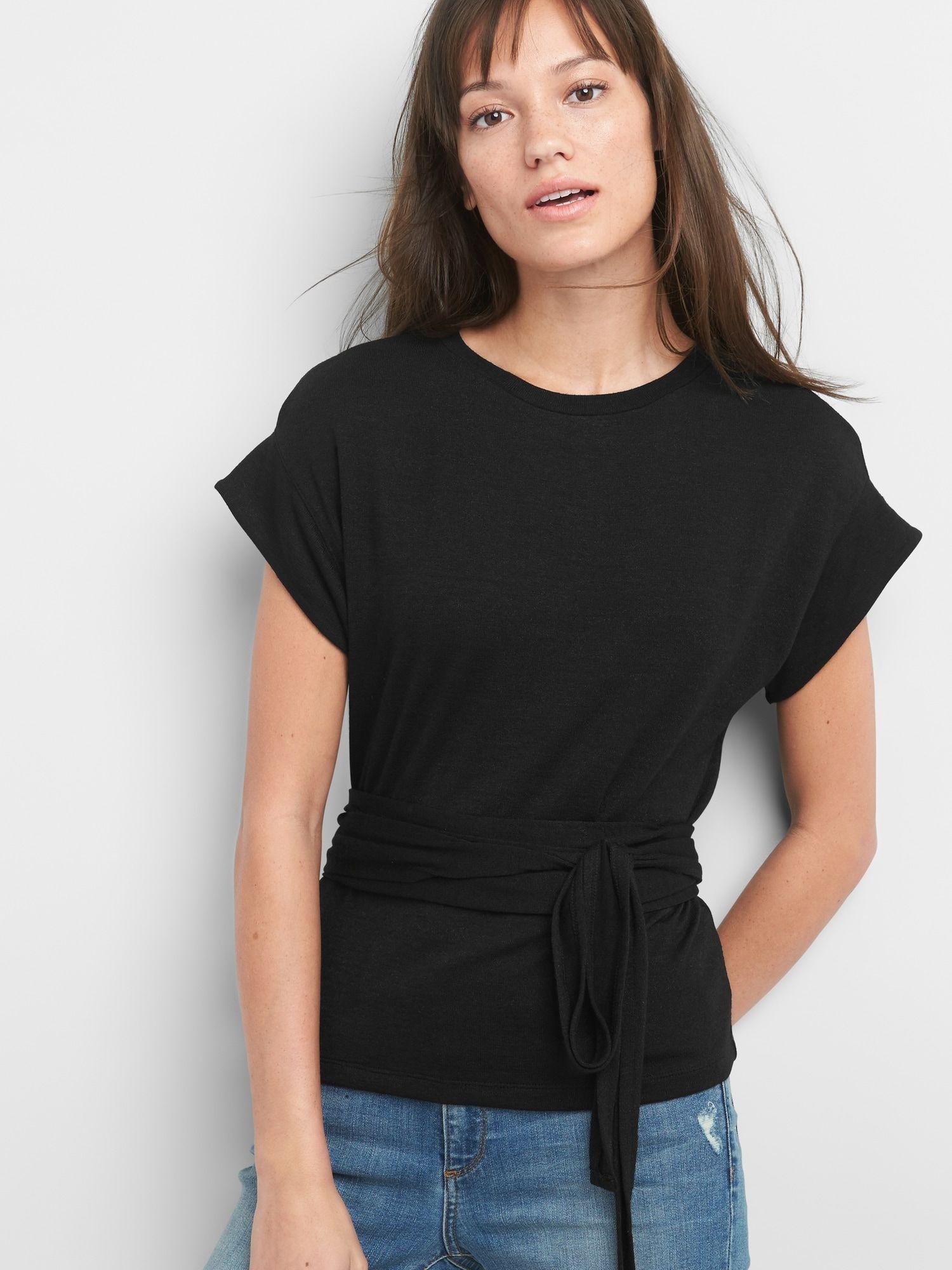 d197bec6b96fd Softspun Short Sleeve Wrap-Belt Top