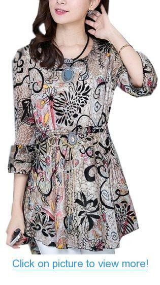 Women New Arrival Deluxe Floral Dress Flouncing Top Blouse