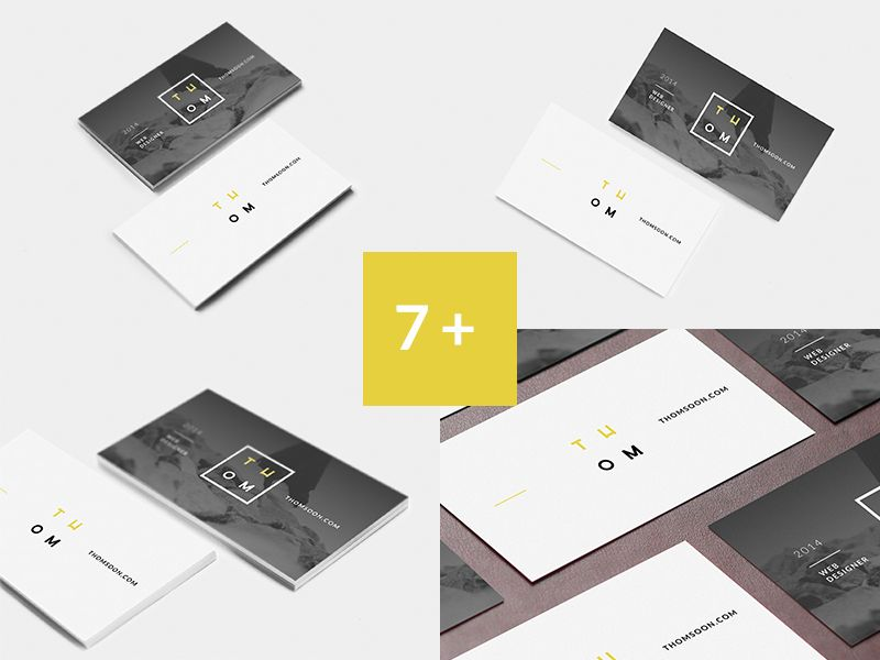 7+ Clean mockup Business Card [FREE] | Mockup and Business cards