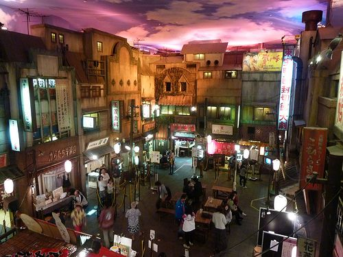 Ramen Museum (There are 9 different ramen restaurants from all over Japan) and I can't wait to go back. Can you believe this is in a basement! A recreation of 1950's Japan during WWII.
