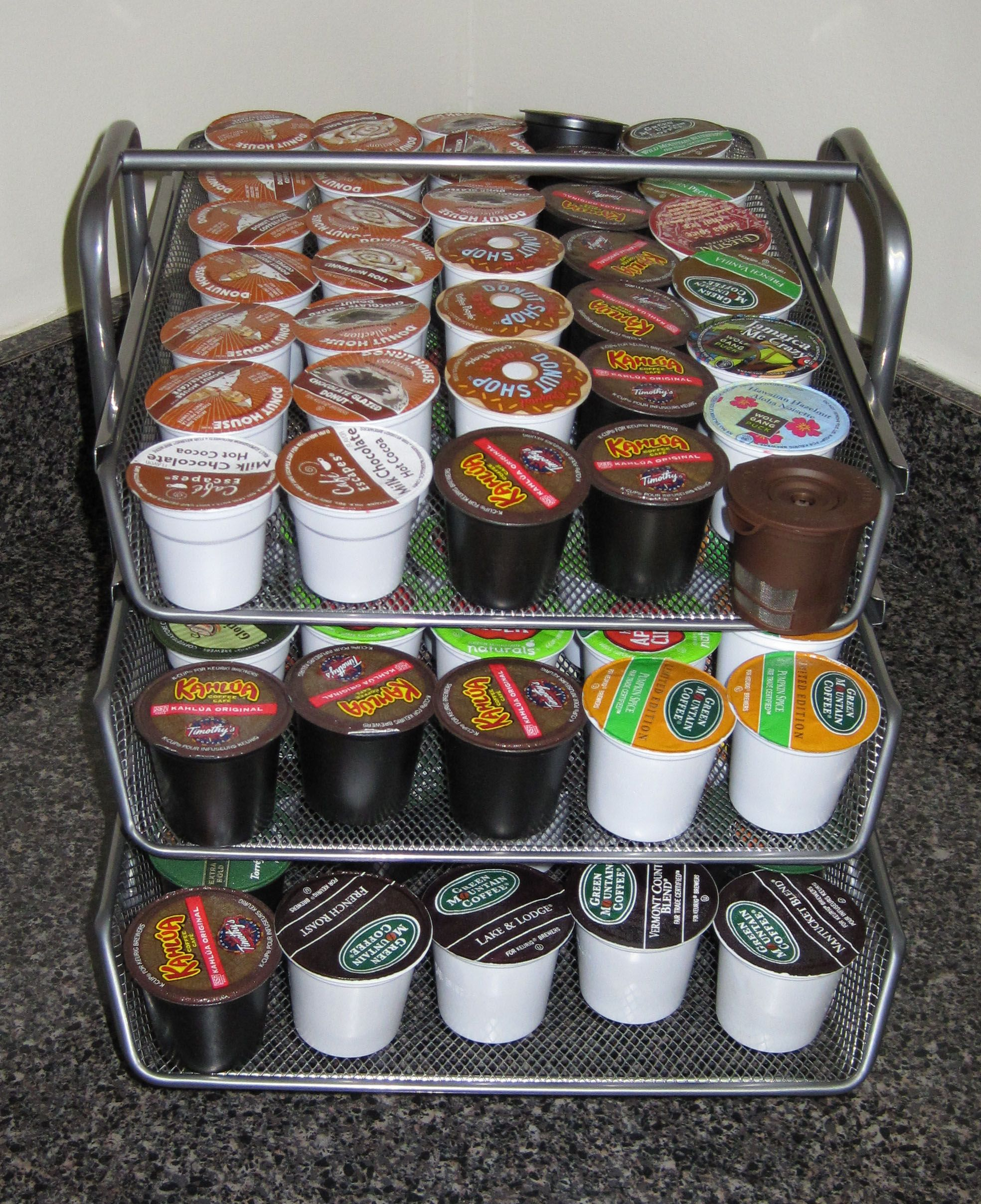 Ikea file folder repurposed as a keurig k cup organizer for Ikea coffee cup holder