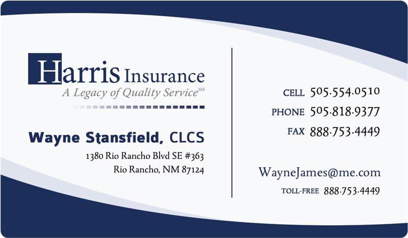 Harrisinsurance Businesscard Jpg 800 467 Sample Business Cards Visiting Card Format Cool Business Cards