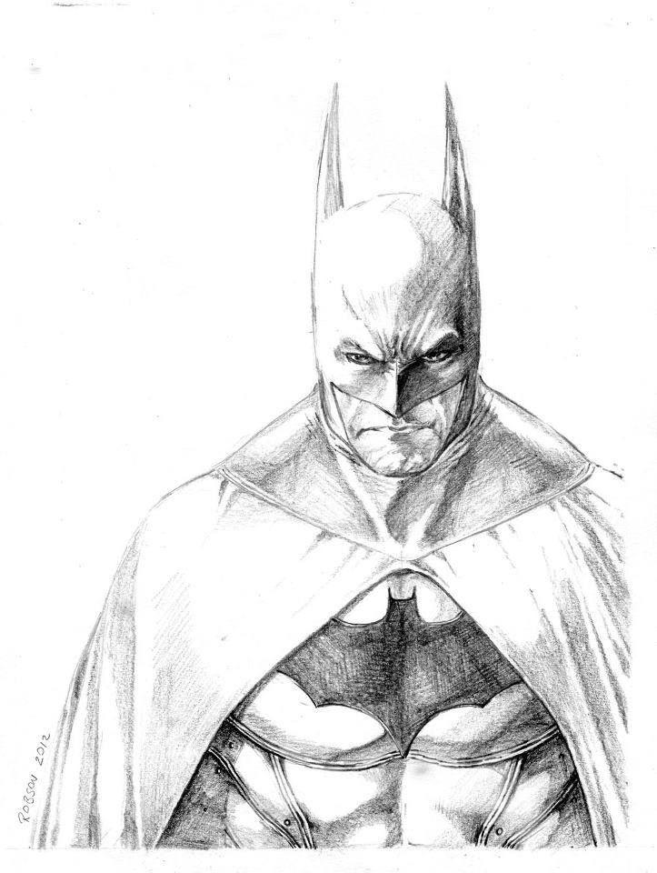 How To Draw Batman Arkham City Sketch Coloring Page