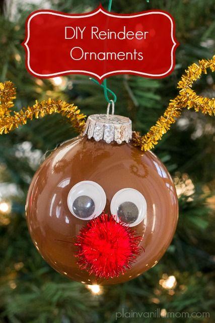 Diy Reindeer Ornament Christmas Ornament Crafts Diy Christmas