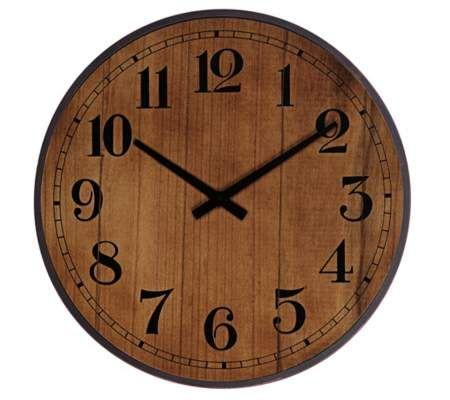 "Maybury 19 1/2"" Maple Round Wall Clock | 55DowningStreet.com"