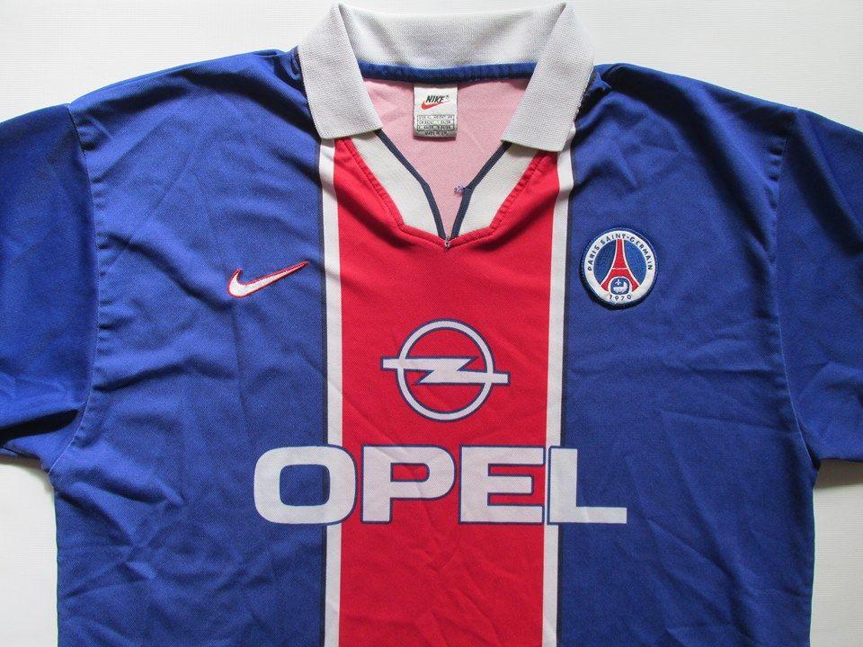 PSG Paris Saint Germain 1997 1998 home football shirt by Nike vintage retro  Paris soccer 90s France  psg  paris  football  soccer  jersey  nike   forsale   ... b2298766469e0