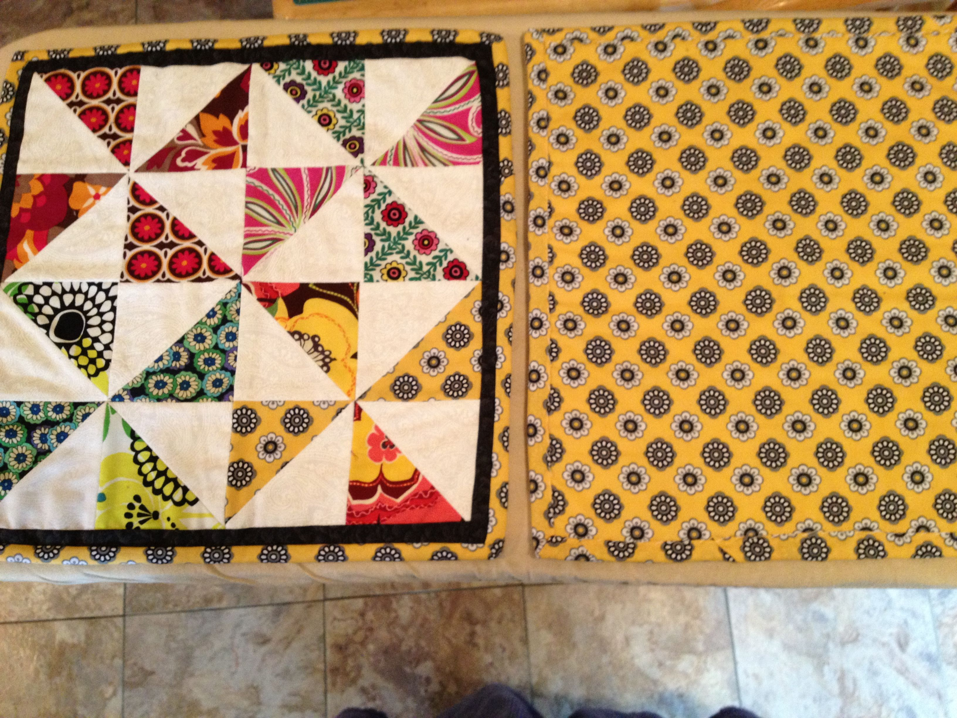front and back of table mat