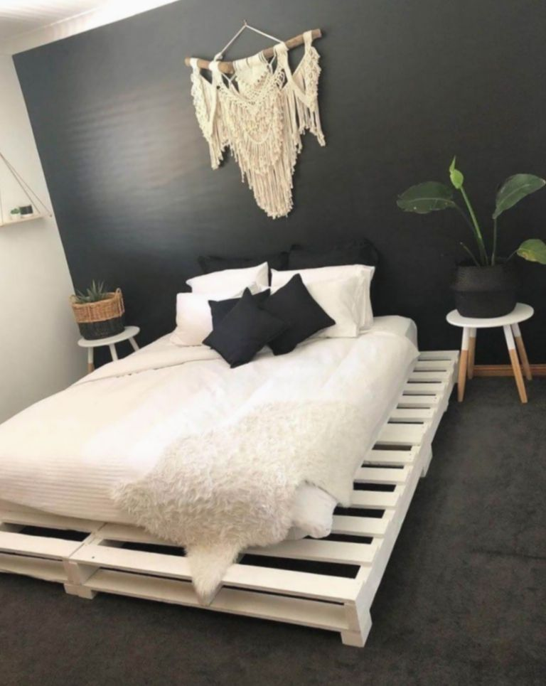 Wooden Pallet Beds Pallets Can Become Cozy I Made A King Size