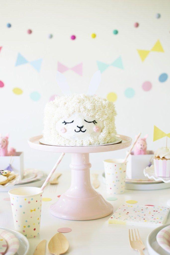 A sweet adopt a llama birthday party birthdays cake and for Decoracion infantil barata