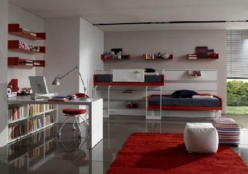 Camerette Sangiorgio ~ Contrasting teen rooms from sangiorgio teenage