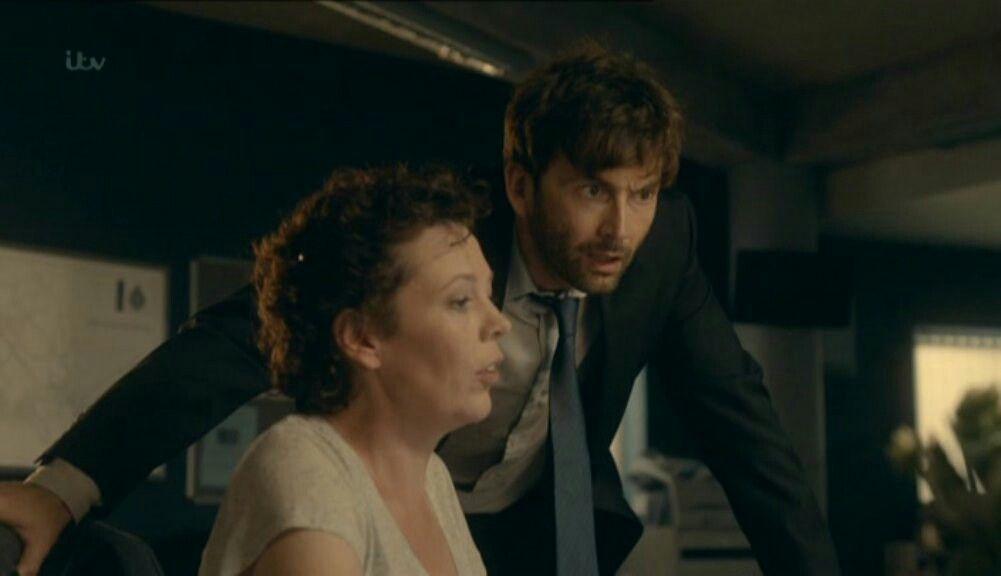 David and Olivia in Broadchurch season one