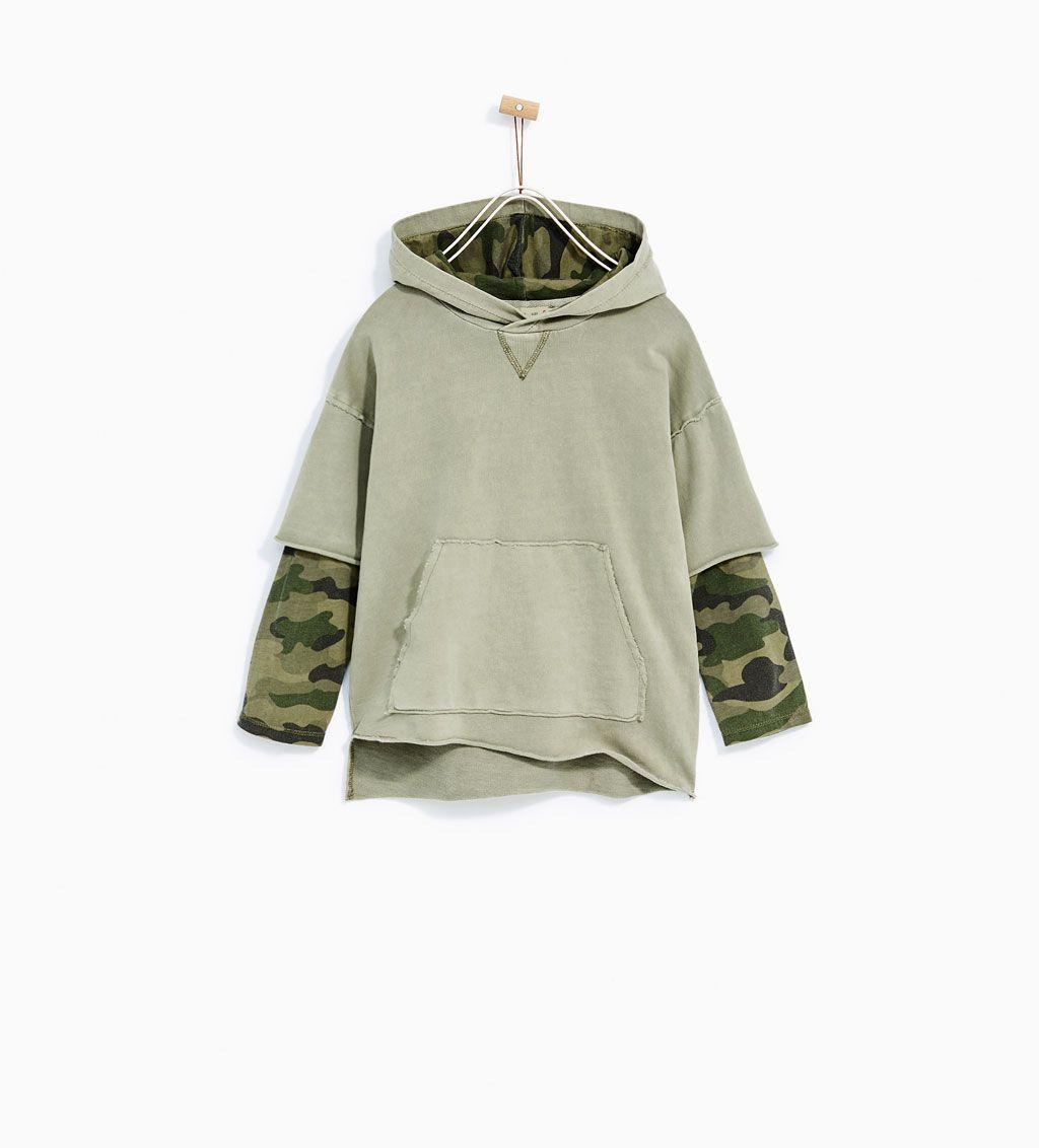 SweatshirtNiño SweatshirtNiño Ropa Camuflada Contrasting Contrasting Camouflage Camouflage TlKJcF1