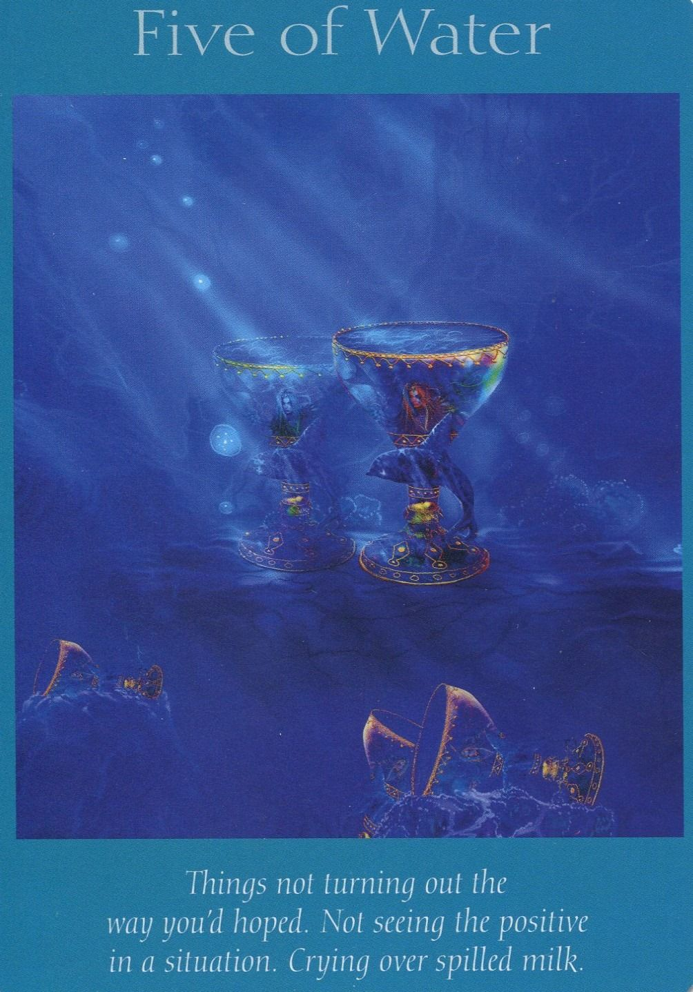 Angel Tarot Card - Five Of Water
