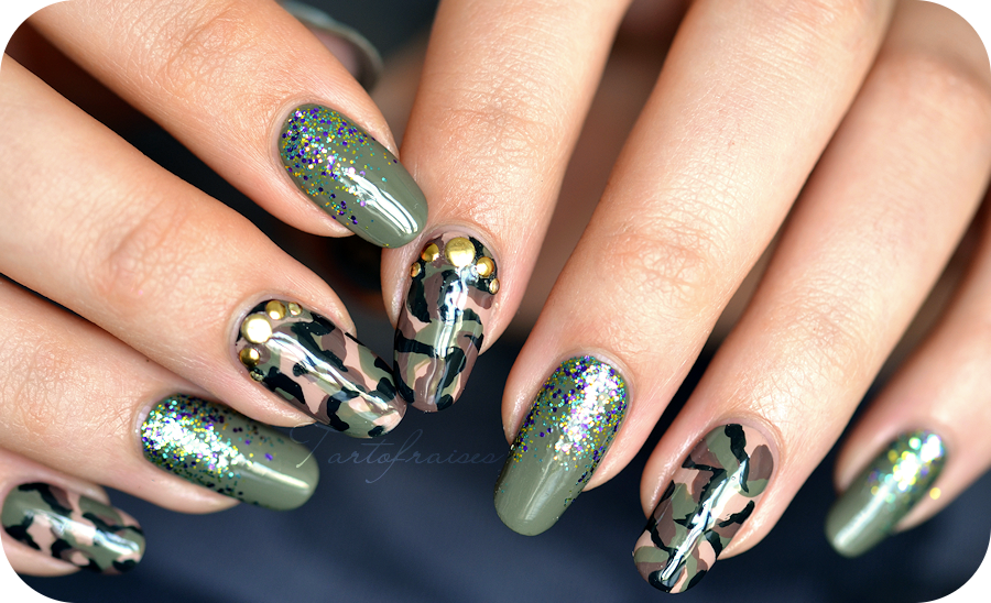 Nail Art Army Camouflage Military My Nail Art Obsession 2