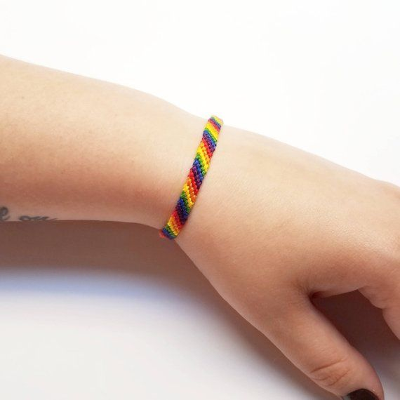 66aa257e93cb8 LGBT Bracelet Jewelry - LGBTQ Anklet - Friendship Bracelet - LGBT ...