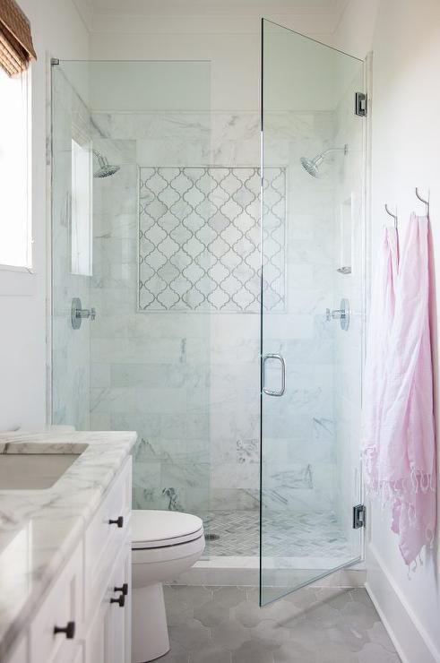 Marble arabesque shower tiles | Bathrooms | Bathroom ...
