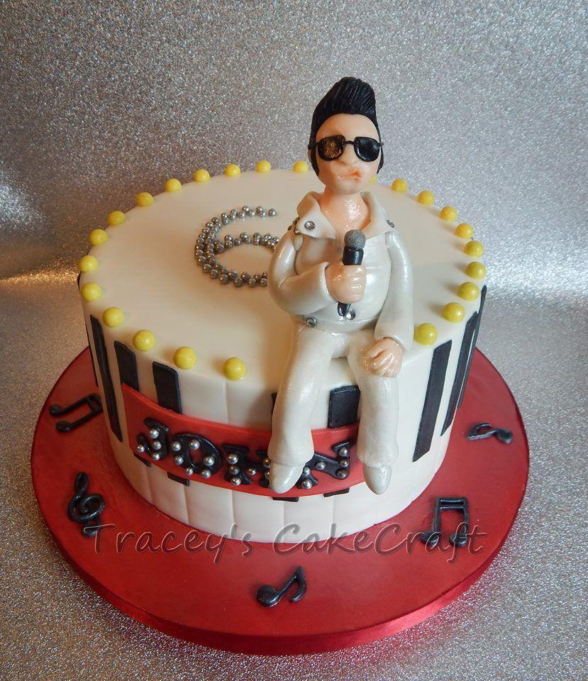 Elvis Presley Birthday Cake Elvis Cakes Pinterest Elvis