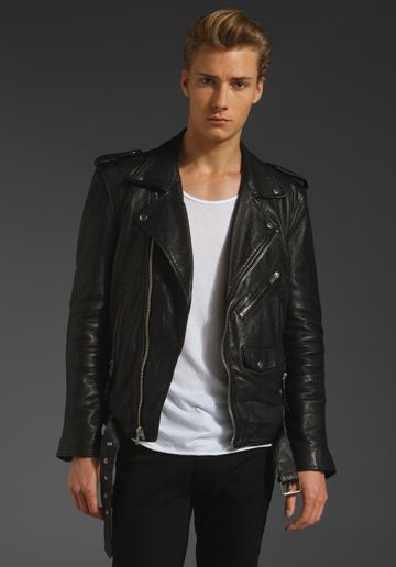 BLK DNM Leather Jacket 5 in Black from