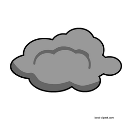 This Is A Dark Grey Cloud With A Thick Black Outline Clip Art Cloud Illustration Clouds Printable