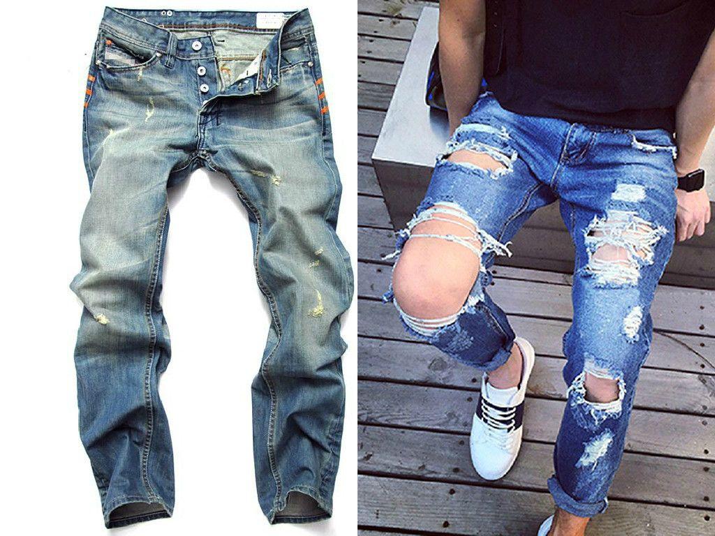 d7a6ec7e Cómo llevar pantalones rotos para hombre #pantalones #rotos ...