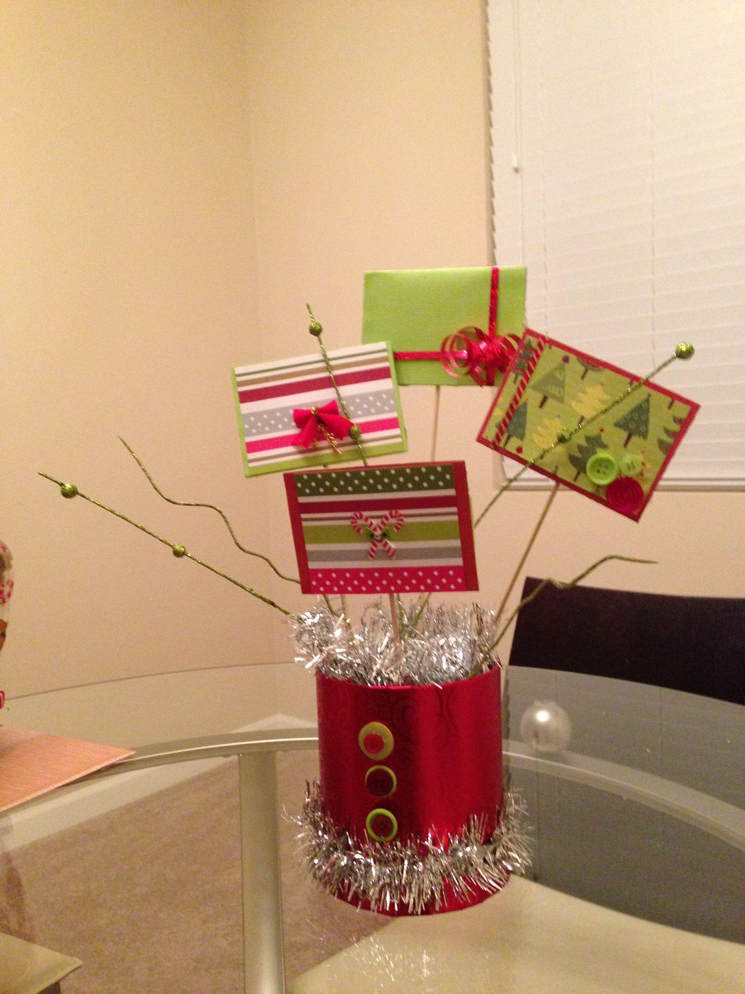 Christmas gift card bouquet ideas