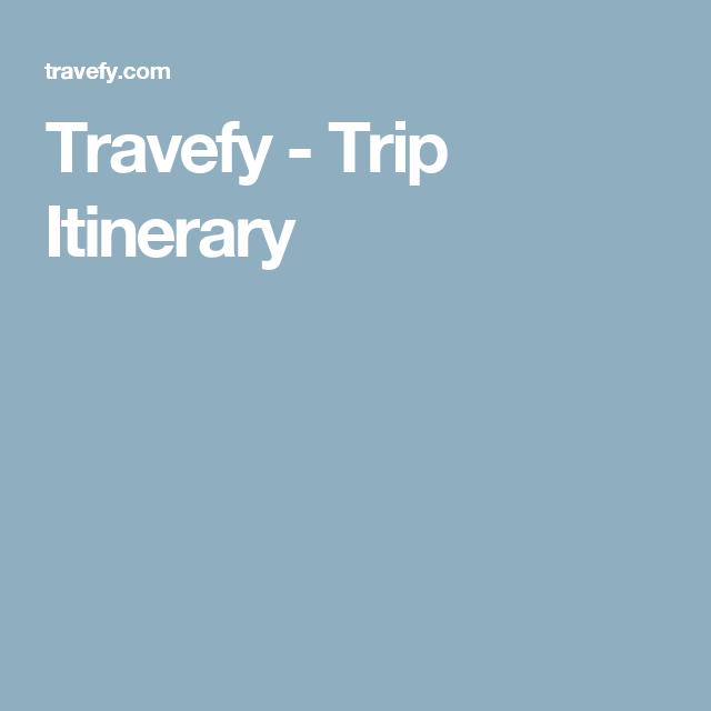 Travefy - Trip Itinerary