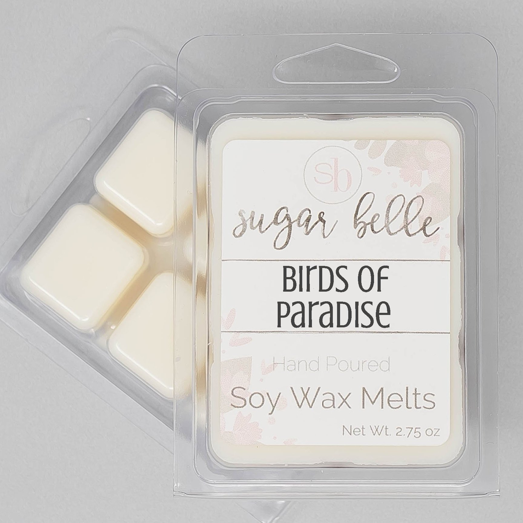 Heavily Scented Handmade Soy Clamshell Wax Melts Tarts BIRDS OF PARADISE