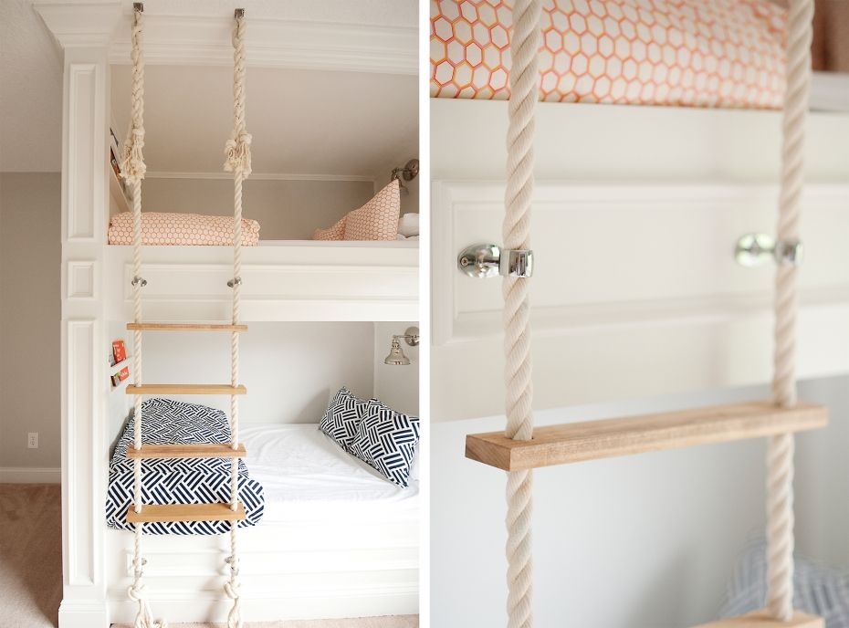 Mikael Monson Built In Bunks Rope Ladder Children Spaces Bunk