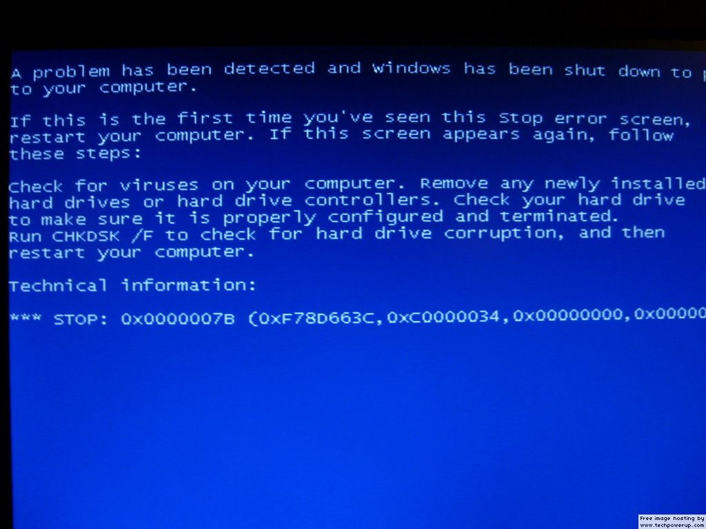 System Restore Blue Screen Of Death