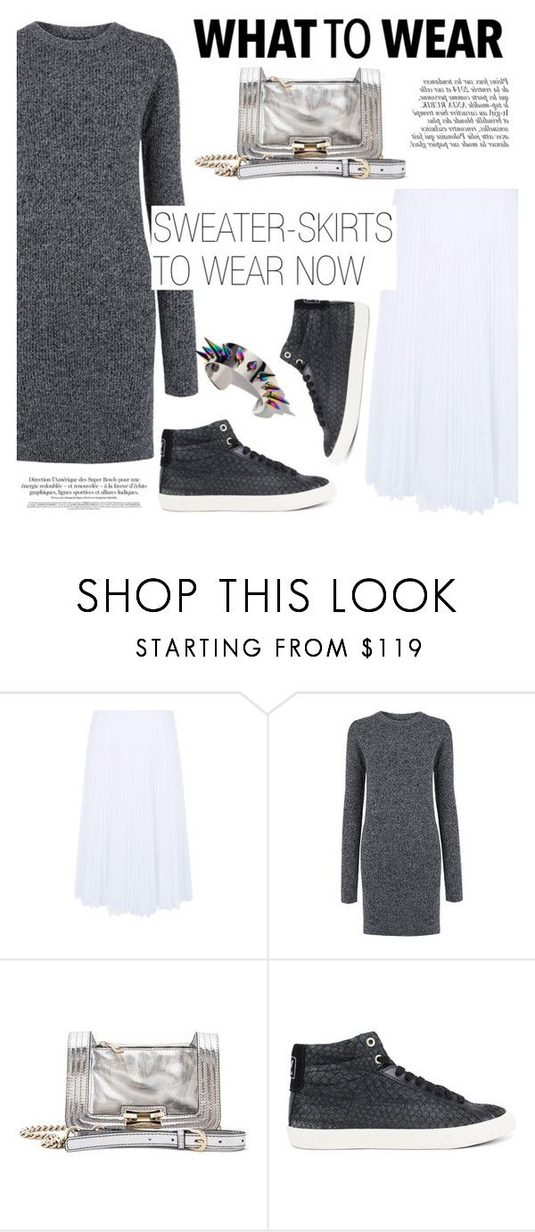 """""""What to wear: Sweater-Skirt!"""" by ifchic ❤ liked on Polyvore featuring Pink Tartan, Mohzy, Anja, BIG PARK, Joomi Lim, WhatToWear, fashionset, Wintertospring, sweaterandskirt and ifchic"""