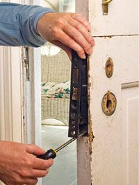 Repairing Old Latches How To Repair Any Door In Your House Diy Advice Door Repair Repair Latches