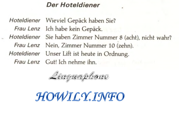 German For Beginners: The hotel-waiter