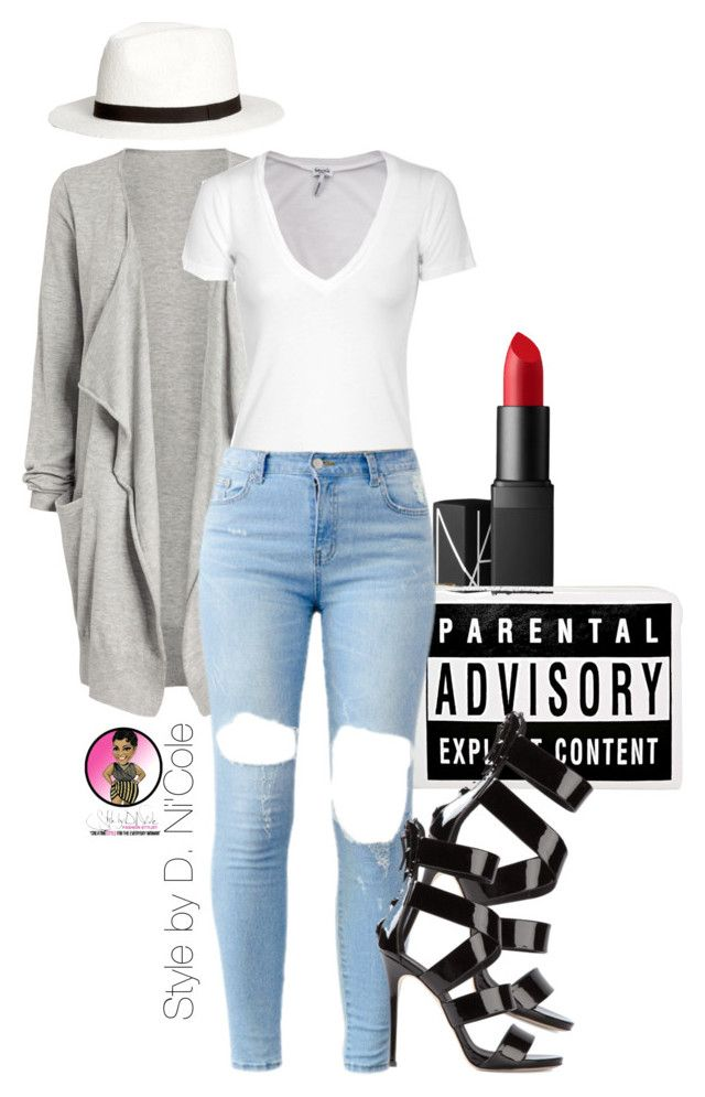 Untitled #2392 by stylebydnicole on Polyvore featuring polyvore, fashion, style, Splendid, Giuseppe Zanotti, H&M and NARS Cosmetics