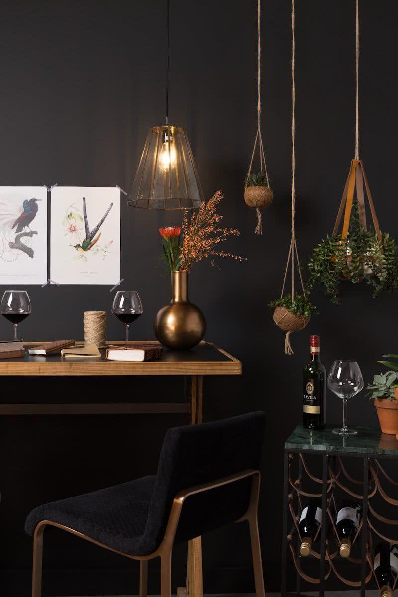 hanglamp tap boer staphorst sfeer lamp druk wanddecoratie planten