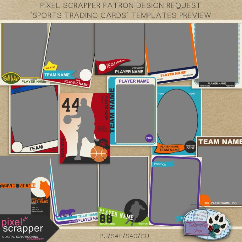 PixelScrapper Patron Design Request  Sports Trading Card Templates