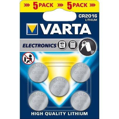 Lot De 5 Piles Lithium Cr2016 Dl2016 6016101415 3 V 90 Mah Varta Machine A Calculer Bouton Amplificateur De Son