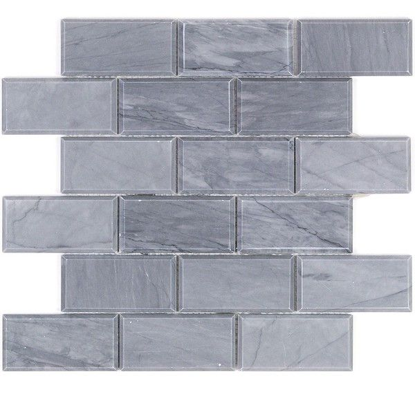 Burlington Gray 2x4 Beveled Marble Tile 11 Sar Liked On Polyvore Featuring Home Home Decor Gray Home With Images Marble Mosaic Marble Mosaic Tiles Stone Mosaic Tile